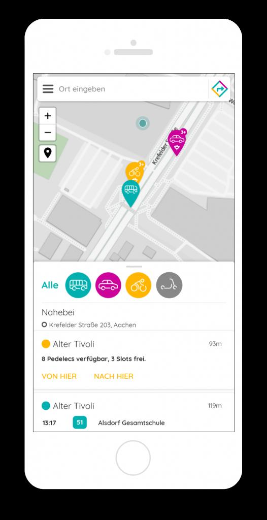 Mobility Broker App – Auskunft und Buchung