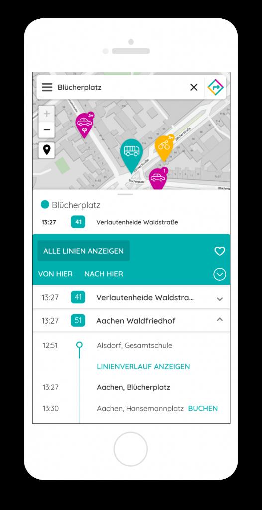 Mobility Broker App – Verbindungsauskunft